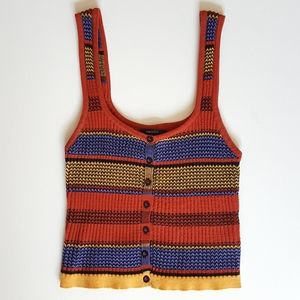 70's Style Striped Tank Top